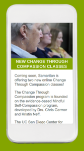 Email newsletter for Change Through Compassion