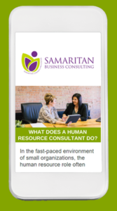 Email newsletter for Samaritan Business Consulting
